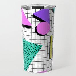 80s Retro Geometric Pattern 2 Travel Mug
