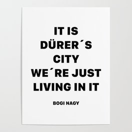 DÜRER´S CITY Poster