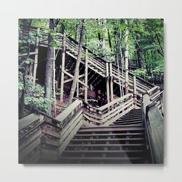 Mountain Staircase Metal Print