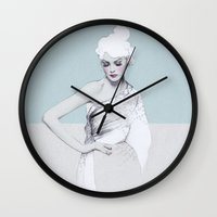 audrey Wall Clocks featuring Audrey by Jenny Liz Rome
