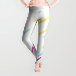 Simple Colorful Abstract Lines Pattern Leggings