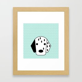 Pop Dog Dalmatian Framed Art Print