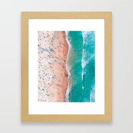 Half Sand Half Sea Framed Art Print