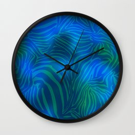 Zebra goes underwater Wall Clock