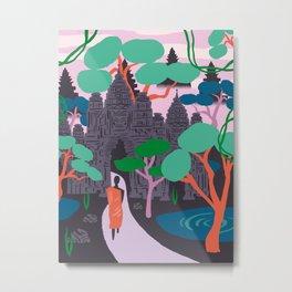 Angkor Wat Temples, Cambodia Metal Print