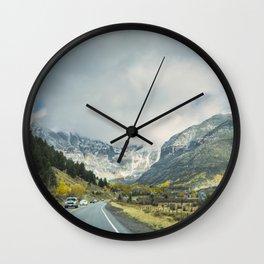 Canyon Into Telluride Wall Clock