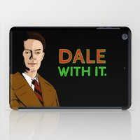 dale cooper iPad Cases featuring DALE WITH IT. by Chris Piascik