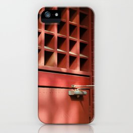 Red Architectural Detail iPhone Case