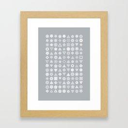 TypeFlakes B Framed Art Print