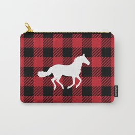Buffalo Plaid: Horse Carry-All Pouch