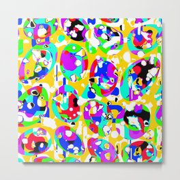 Colorful ovals Metal Print