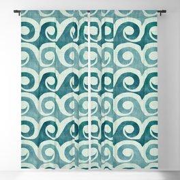 Vintage Waves - Tropical Teal Blackout Curtain