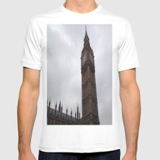 Big Ben London White MEDIUM Mens Fitted Tee