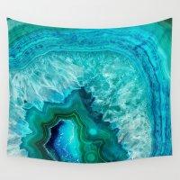 geode Wall Tapestries featuring Geode by Jenna Davis Designs