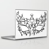 mask Laptop & iPad Skins featuring Mask by Jessica Slater Design & Illustration