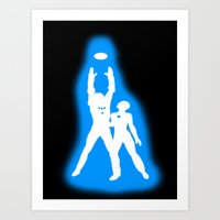 tron Art Prints featuring Tron by KewlZidane