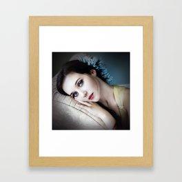 Flowers to Match Her Eyes Framed Art Print