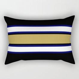 Team Colors...navy,gold,white,black Rectangular Pillow