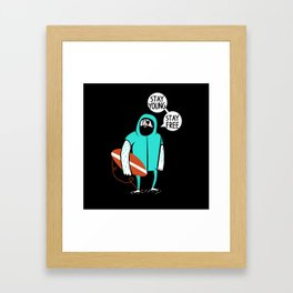 Stay young, stay free Framed Art Print