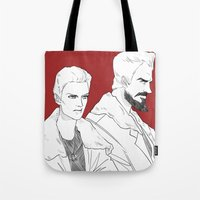 pacific rim Tote Bags featuring Pacific Rim - Cherno Alpha by arttano
