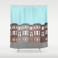 brooklyn Shower Curtains featuring Brooklyn by Home & Anchor