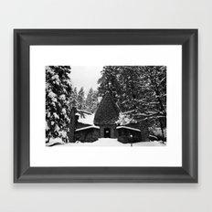 Snow Building in Snow Framed Art Print