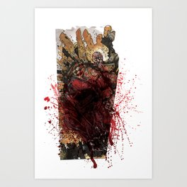 INTO THE PIT Fucking Blood Art Print