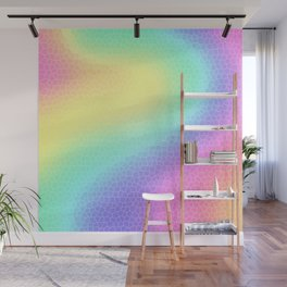 "Curvy Pastel Rainbow ""Glass Tiles"" Design Wall Mural"