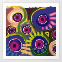 The flowers have eyes too Art Print