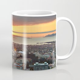 View of San Francisco Bay Area at Sunset from UC Berkeley Coffee Mug