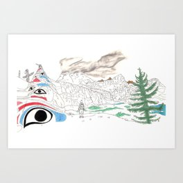 'CANADA' PART 4 OF 10* Art Print