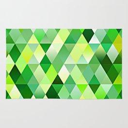 Lime Green Yellow White Diamond Triangles Mosaic Pattern Rug
