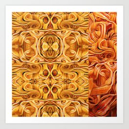 Abstract Chinese Noodle Art Print
