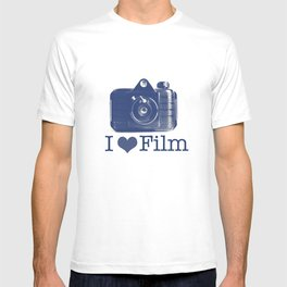 I ♥ Film (Blue/Peach) T-shirt