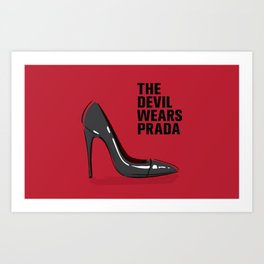 The Devil in Heels Art Print