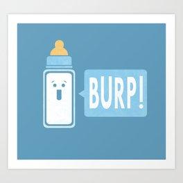 Burp (Blue) Art Print