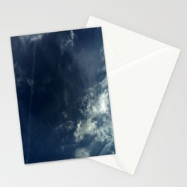 Cloud and sky 10 -cloud, sky, blue, positive,optimism Stationery Cards