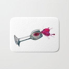 A glass of love Bath Mat