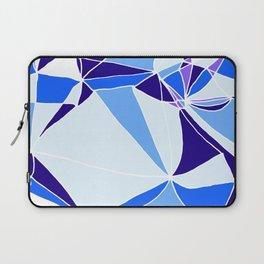 Blue mosaic Abstract artwork Laptop Sleeve