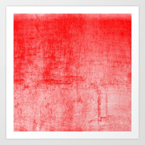 Distressed Coral Textured Canvas by jnobisdesigns
