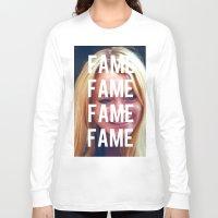 lindsay lohan Long Sleeve T-shirts featuring FAME - LINDSAY LOHAN by Beauty Killer Art