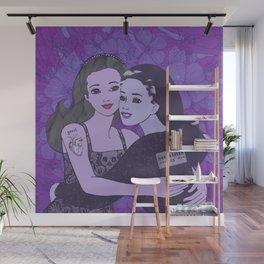 grrrl love saves lives Wall Mural