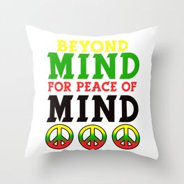Spread the Love with this Peace of mind Tshirt Design Beyond mind Throw Pillow