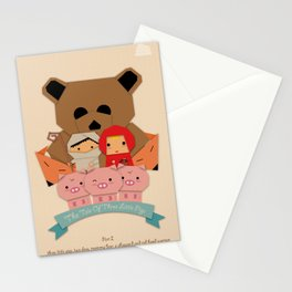 3 little pigs Stationery Cards