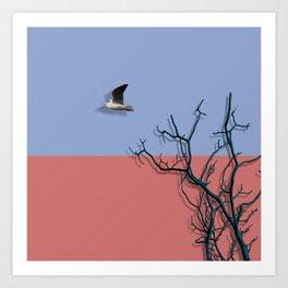 Bird fly Art Print