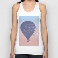 hot air balloon Tank Tops featuring Hot Air Balloon (P) by HeyAle!
