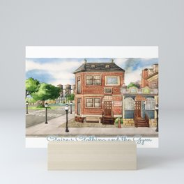 Claire's Clothing and the Gym Watercolor Mini Art Print