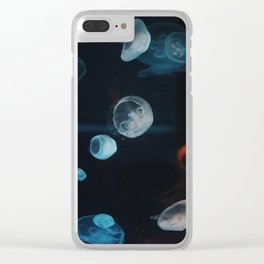 Jellyfish Cells (Color) Clear iPhone Case