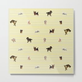 Doggies Galore Metal Print