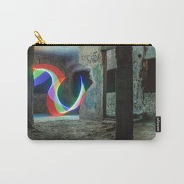 Art light in a abandoned building Carry-All Pouch